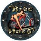 RIDE HARD MOTORCYCLE ROUND CLOCK