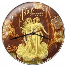 INDIA COFFEE Heavy Metal Clock