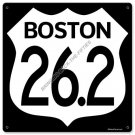 Boston Marathon 26.2 miles HEAVY METAL SIGN