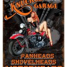 KNUCKLEHEAD GARAGE SINCE 1937 Heavy Metal Sign