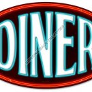 DINER HEAVY METAL OVAL SIGN