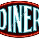 DINER HEAVY METAL OVAL SIGN