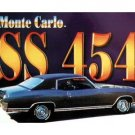 CHEVROLET MONTE CARLO SS 454 TIN SIGN
