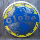 THE GLOBE UNIVERSAL GASOLINE TIN SIGN