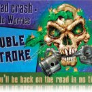 Double Stroke HEAVY MOTORCYCLE METAL SIGN