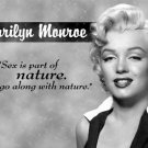MARILYN MONROE SEX & NATURE TIN SIGN