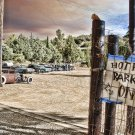 HOT ROD PARKING ONLY PETER TORRES HEAVY METAL SIGN