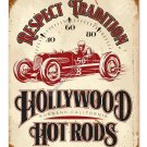 HOLLYWOOD HOT RODS HEAVY METAL SIGN TRADITION