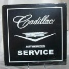 CADILLAC AUTHORIZED SERVICE TIN  METAL SIGN