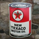 TEXACO MOTOR OIL CAN SIGN