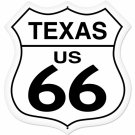 TEXAS US 66 SHIELD LARGE METAL SIGN