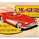 McGURK CAM SHAFTS SPEED EQUIPMENT METAL SIGN