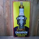 CHAMPION SPARK PLUG PORCELAIN COATED SIGN