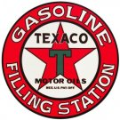 Texaco Filling Station Sign Heavy Steel Baked Enamel Man Cave Garage Shop Home Decor 25.5""