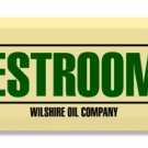 POLLY GAS RESTROOMS DOOR PUSH TIN SIGN