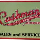 CUSHMAN MOTOR SCOOTER SALES SERVICE SIGN
