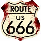 ROUTE 666 SHIELD METAL SIGN