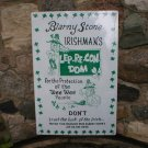 Blarney Stone Lep-Re-Con-Dom TIN SIGN