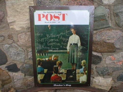 Saturday Evening Post 1956 Teacher's Day METAL SIGN