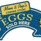 EGGS ARROW Custom Metal Sign