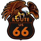 ROUTE 66 EAGLE Custom Metal Sign