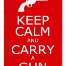 KEEP CALM CARRY GUN METAL SIGN