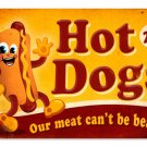 HOT DOGS HEAVY METAL SIGN