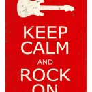 KEEP CALM ROCK ON METAL SIGN