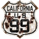 CALIFORNIA US 99 HEAVY METAL SIGN
