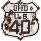 OHIO US 40 HEAVY METAL SIGN