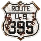 CALIFORNIA ROUTE US 395 HEAVY METAL SIGN