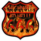 HIGHWAY TO HELL 666 HEAVY METAL SIGN