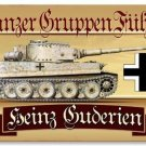 PANZER GRUPPEN METAL PERSONALIZED SIGN