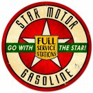 STAR MOTOR OIL ROUND METAL SIGN