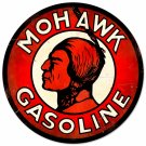 MOHAWK GASOLINE ROUND METAL SIGN 14""