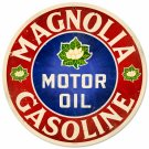 MAGNOLIA GASOLINE ROUND METAL SIGN 14""