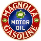 MAGNOLIA GASOLINE ROUND METAL SIGN