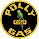 POLLY GAS LARGE HEAVY METAL SIGN
