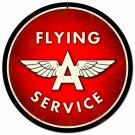 "FLYING A SERVICE METAL SIGN 28"" DIAMETER"