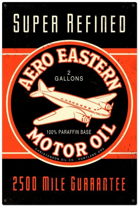 AERO EASTERN LARGE HEAVY METAL SIGN