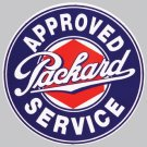 APPROVED PACKARD SERVICE HEAVY STEEL BAKED ENAMEL SIGN 25.5""