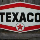 LARGE TEXACO HEXAGON Heavy Metal Sign