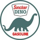 SINCLAIR DINO GASOLINE HEAVY STEEL BAKED ENAMEL SIGN 25.5""