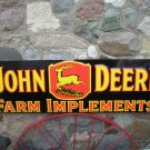 LARGE JOHN DEERE FARM IMPLEMENTS METAL SIGN