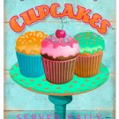 CUPCAKES FRESH TASTY LARGE RETRO METAL SIGN