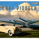 LADY PIONEER VINTAGE METAL SIGN P