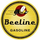 BEELINE GASOLINE ROUND METAL SIGN 28""