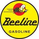 "BEELINE GASOLINE HEAVY STEEL BAKED ENAMEL SIGN 25.5"""