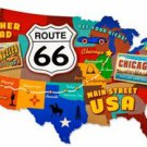 ROUTE 66 USA CUSTOM METAL SIGN