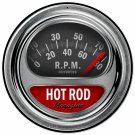 Hot Rod Tach Round Metal Sign